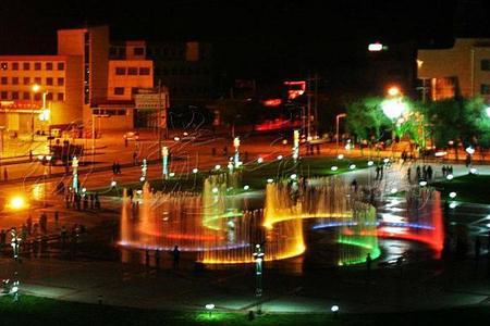 德令哈市中心花苑音乐喷泉项目